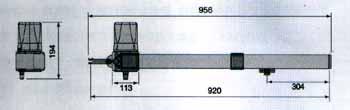 Габаритные размеры привода для распашных ворот KRONO