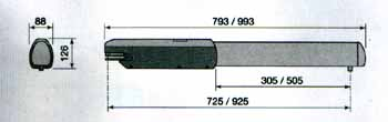 Габаритные размеры привода для распашных ворот ATI