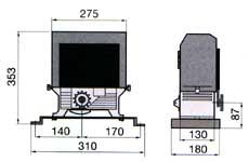 Габаритные размеры привода серии С универсального назначения.