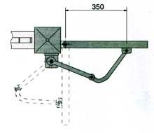 Установочные размеры привода FLEX распашных ворот или калиток.