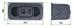 Габаритные размеры привода серии F складывающихся ворот.
