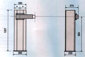 Габаритные размеры автоматических шлагбаумов GARD G4000/G4001 (G2500)