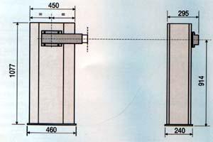 Габаритные размеры шлагбаума GARD G6000.