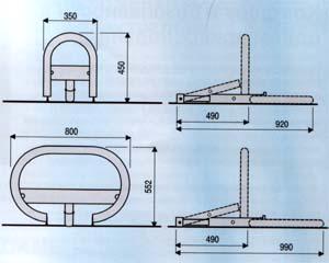 UNIPARK - Габаритные и установочные размеры.